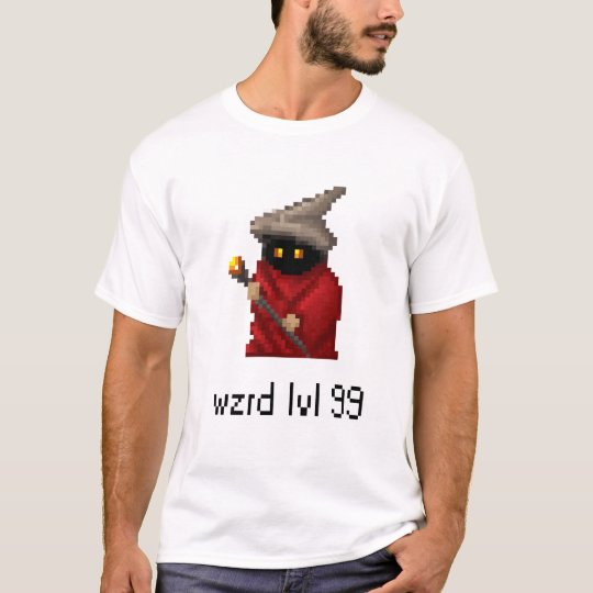 Level 99 Wizard Pixel Art T-Shirt