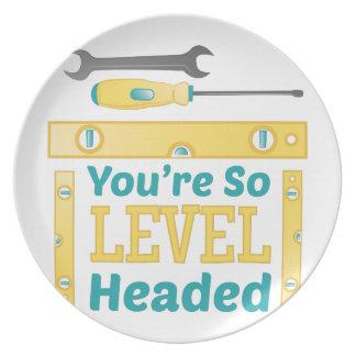 Level Headed Plates