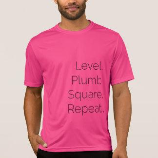 Level Plumb Square Carpentry Dri-fit SS Pink T-Shirt