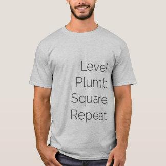 Level Plumb Square Carpentry SS Gray T-Shirt