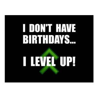 Level Up Birthday Postcard