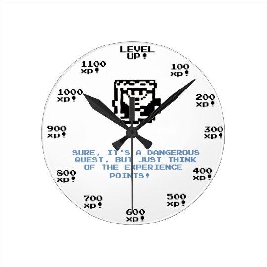 """""""Level up!"""" retro gaming RPG clock"""