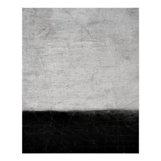 'Levels' Black and White Abstract Art Poster Print