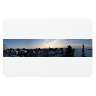 Leverkusen Winter Panorama Dawn Rectangular Photo Magnet