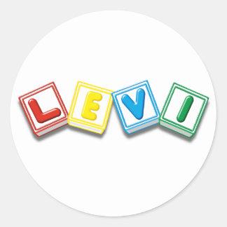 Levi Round Sticker
