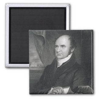 Levi Woodbury, engraved by Robert E. Whitechurch ( Square Magnet