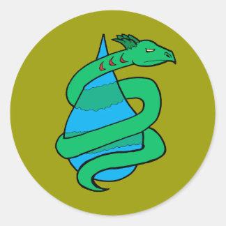 Leviathan Round Sticker