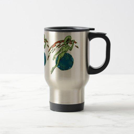 Levitating Alien Coffee Mugs