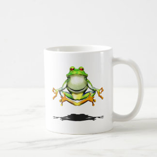 Levitating Frog Basic White Mug