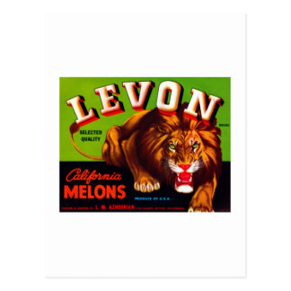 Levon California Melons Postcard