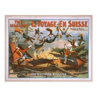 LeVoyage En Suisse, 'The Railroad Disaster' Postcard