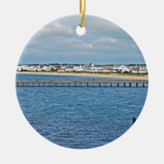"""Lewes Harbor from ferry"" collection Christmas Ornament"