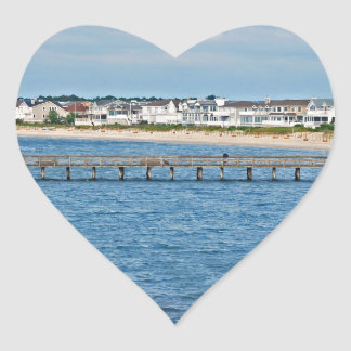"""""""Lewes Harbor from ferry"""" collection Heart Sticker"""