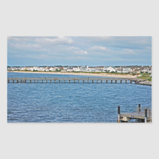 """""""Lewes Harbor from ferry"""" collection Rectangular Sticker"""