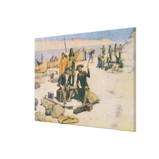 Lewis and Clark at the Columbia River Canvas Print
