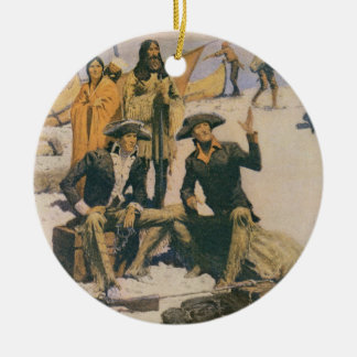 Lewis and Clark at the Columbia River Christmas Ornament