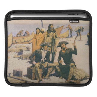 Lewis and Clark at the Columbia River iPad Sleeve