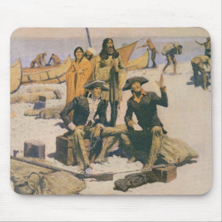 Lewis and Clark at the Columbia River Mouse Mat