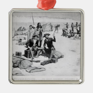 Lewis and Clark at the mouth of the Columbia Christmas Ornament