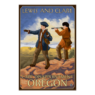 Lewis and Clark - Cape Disappointment, Oregon Poster