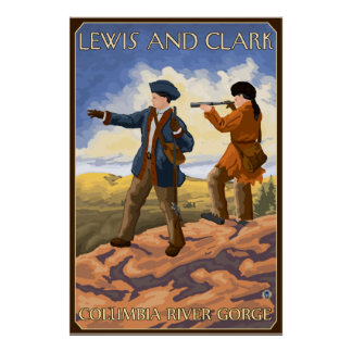 Lewis and Clark - Columbia River Gorge, Oregon Poster