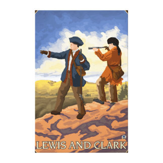 Lewis and Clark Exploring the West Canvas Print