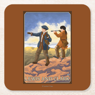 Lewis and Clark Exploring the West Square Paper Coaster