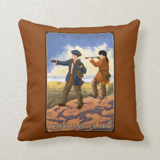 Lewis and Clark Exploring the West Throw Pillow