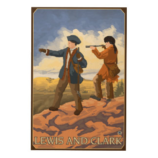 Lewis and Clark Exploring the West Wood Print