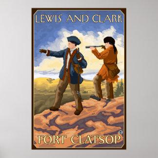 Lewis and Clark - Fort Clatsop, Oregon Poster
