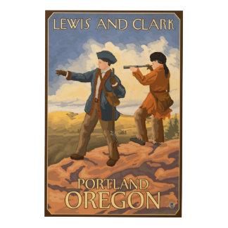 Lewis and Clark - Portland, Oregon Wood Wall Decor