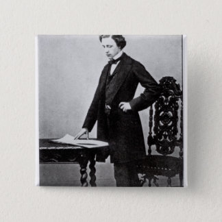 Lewis Carroll  aged 29 15 Cm Square Badge