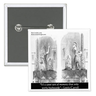 Lewis Carroll Graphic & Famous Quote 15 Cm Square Badge