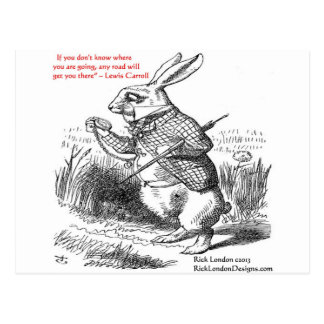 Lewis Carroll Looking Glass Illustration & Quote Postcard