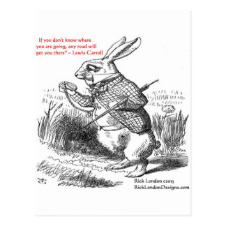 Lewis Carroll Looking Glass Illustration Quote Post Cards