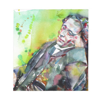 LEWIS CARROLL - watercolor portrait.2 Notepad