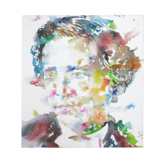 LEWIS CARROLL - watercolor portrait.3 Notepad