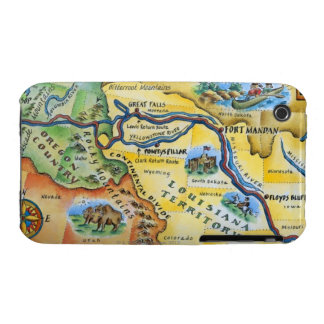 Lewis & Clark Expedition Map Case-Mate iPhone 3 Cases