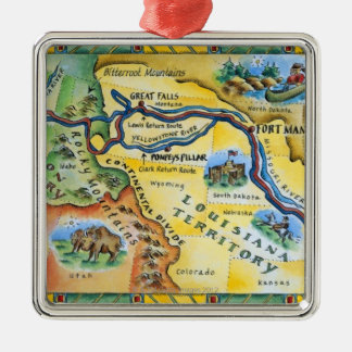 Lewis & Clark Expedition Map Christmas Ornament