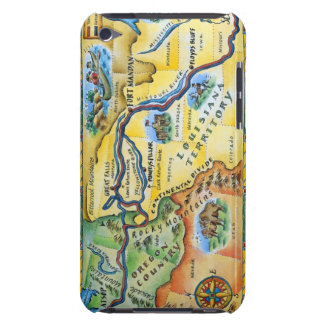 Lewis & Clark Expedition Map iPod Touch Case