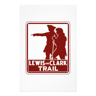 Lewis & Clark, Traffic Guide Sign, USA Stationery