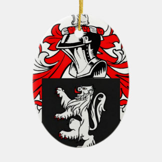 Lewis Coat of Arms Ceramic Oval Decoration