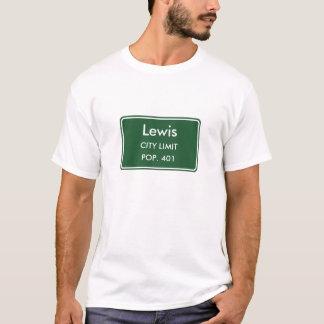 Lewis Iowa City Limit Sign T-Shirt