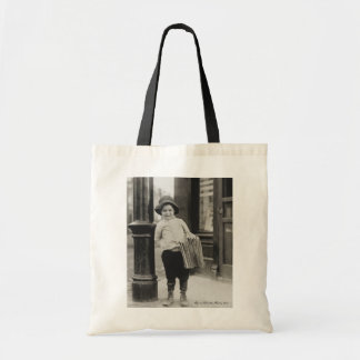 Lewis Wickes Hine - Newsboy in St. Louis, Missouri Budget Tote Bag