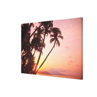 Lewolin Village, Illi Api Island, Selat Boleng Stretched Canvas Prints