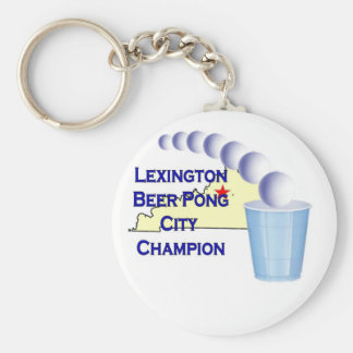 Lexington Beer Pong Champion Keychains
