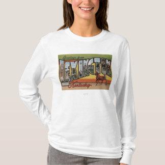 Lexington, Kentucky - Large Letter Scenes T-Shirt