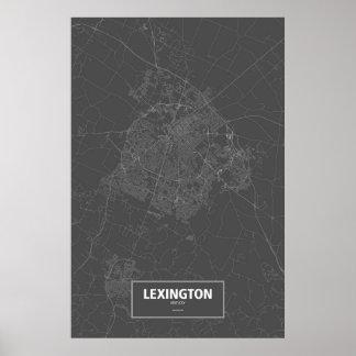 Lexington, Kentucky (white on black) Poster