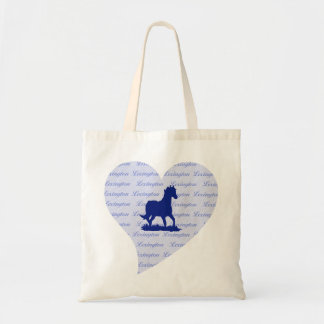 Lexington KY Horse Tote Bag