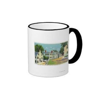 Leyden Street View, First Street in New England Ringer Mug